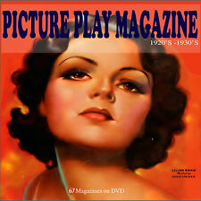 Picture Play 67 Vintage Film Movie's  Screen Magazines 1920's 1930's Ephemera CD