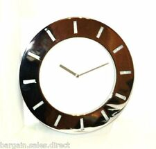 INVOTIS POLISH CHROME WITH 12 LED DIMMER CONTROL ADAPTOR WALL CLOCK
