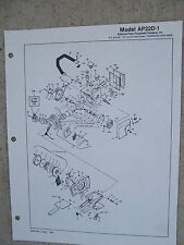 1981 Lombard Chain Saw AP22D-1 Parts List Illustrated Harrison Ohio Power Tool R