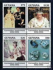 Guyana 1993 40th Ann. of Coronation SG 3351/4 MNH