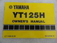 1980 1981 Yamaha YT125 Owners Manual YT 125 H
