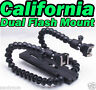 Dual Mount Arm Macro Shot Flexible Flash bracket Speedlight Canon Nikon Camera