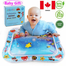 Large Tummy Time Inflatable Infants Baby Water Playmat Toy Mat Fun Kids BPA Free