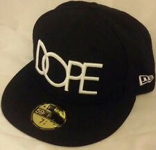 NWT NEW ERA DOPE Classic Logo clothing brand 59FIFTY size 7 1/4 fitted cap hat