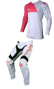 Seven MX 20.2 Vox Paragon Adult Motocross MX Kit Combo (Coral/White) SALE!!
