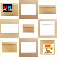 C5 C6 C7 DL WHITE IVORY BROWN KRAFT ENVELOPES PAPER CARDS MINI SMALL LARGE A5 A6