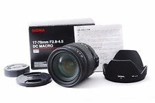 Sigma 17-70mm f/2.8-4.5 DC macro HSM nikon w/Box [Excellent+++] From Japan