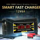 12V 6A Auto Fast Lead-Acid GEL Battery Charger Maintainer For Car Motorcycle LCD