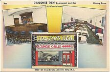 Dragon's Den Chinese Restaurant and Bar in Atlantic City NJ Postcard
