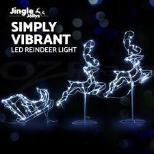 Jingle Jollys Christmas Motif Lights LED Rope Reindeer Waterproof Outdoor Xmas