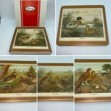 🌟Vintage Set 6 Pimpernel Game Birds Cork Backed Placemats Boxed Rectangular