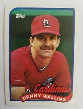 1989 Topps #196 Denny Walling Cardinals (Actual Card)