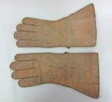 VINTAGE MOTORCYCLE DESPATCH RIDERS LEATHER GAUNTLETS gloves a
