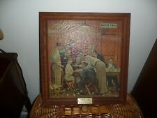 """Norman Rockwell on CANVAS """"JURY ROOM""""  """"THE HOLDOUT"""" 14 x 15"""
