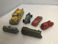 vintage diecast Tootsie Toy cars lot of 6 - Trucks, Cars, Trains