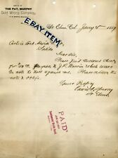 1889 St. Elmo Colorado GHOST town PAT MURPHY GOLD MINING T Everts Edwin Sperry