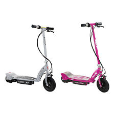 Razor E100 24 Volt Electric Powered Ride On Scooter, Silver & Pink (2 Scooters)