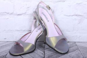 CARVELA Stiletto High Heel Wedding Party Green Leather Peep Toe RRP £119 EU 37.5