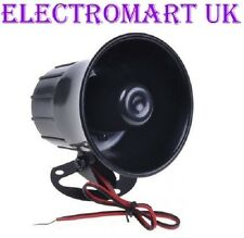 12V 12 VOLT 110DB 10W 6 TONE HORN SIREN SOUNDER SECURITY ALARM