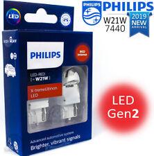 NEW W21W LED RED T20 PHILIPS X-treme Ultinon LED Gen2 Car Signalling Bulbs 12 V