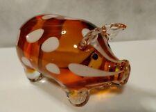 "Beautiful Blown glass pig 6"""