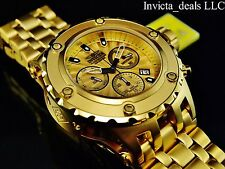 Invicta Men's 52mm Specialty Subaqua Swiss Chronograph All Gold Tone SS Watch