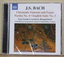 CD J.S.Bach Cromatic Fantasia & Fugue Lisa Goode Crawford Naxos 2010 neu & ovp