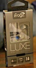 NEW  iFrogz LUXE Earphones with Avec Microphone