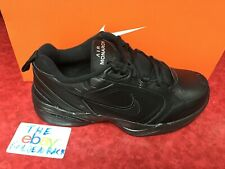 Nike Men's Air Monarch IV Running Shoes 416355 001 **WIDE 4E* *Black/Black NIB