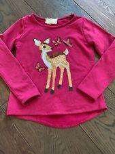 Btween Holiday Sparkle Deer Girls 8 Long Sleeve Sweatshirt Euc
