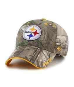Pittsburgh Steelers '47 Realtree Camo Frost MVP Adjustable Field Hat Cap NFL