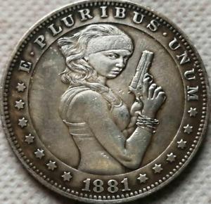 Sexy Girl Type 10 Hobo 1881 Coin Commemorative Collectible Coins Free Shipping