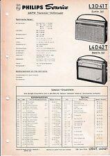 Service Manual-Anleitung für Philips L3 D41 T,Evette 341,L4 D42 T,Babette 442