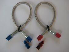 """*NEW NOS/NITROUS/NX/ZEX/HOLLEY/ 15""""-3AN-3AN BLUE/RED LINE/HOSE KIT W/FITTINGS!"""