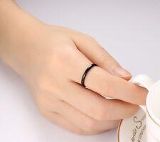 2MM Silver/Gold/Black Tungsten Carbide Ring Men/Women's Wedding Band Size 6-11