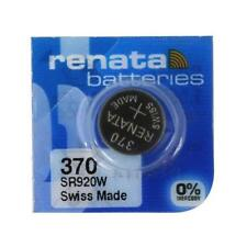 Swiss Made - Brand New Renata 370 (Sr920W) Watch Battery