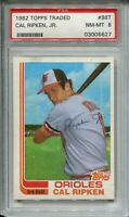 1982 Topps Traded Baseball #98T Cal Ripken Rookie Card XRC Graded PSA NM Mint 8