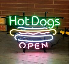 "New Hot Dogs Open Fast Food Neon Light Sign 20""x16"""