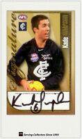 2006 Herald Sun AFL Trading Card Authentic Signature Card S10 Kade Simpson-rare