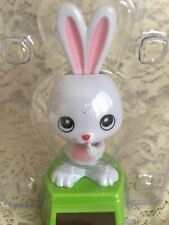 New Solar Bunny Easter Rabbit Bobble Head Egg Hunt Toy Gift Basket Watch Video