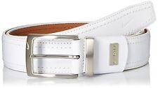 Nike Mens G-flex Pebble Grain Leather Belt, White, 40 New