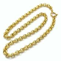 Vintage gold plated belcher link chain necklace EPJ1868