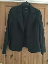 BNWOT GEORGE Ladies Dark Grey Pin Stripe Detail Single Breasted Jacket Size 12