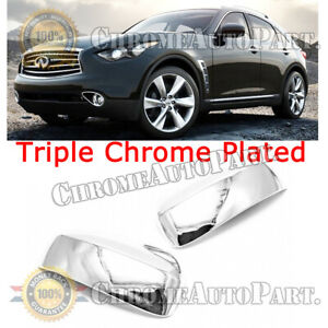 For 2014-2015 Infiniti QX50 QX60 QX70 Chrome ABS Plastic Side Mirror Cover Cap