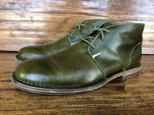 Mens Cole Haan Chukka Boots Size 12 Green Leather