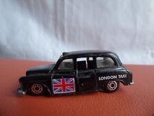Matchbox 1986 London Taxi FX4R Negro Cab Union Jack Bandera 1:60 Coche de juguete