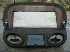 Graco Pack n Play Brown Replacement Changer w/ Accessory Tray Folds Up