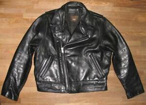 """"""" Vanson Leathers """" Jacket/Bikerjacke/Motorrad- Jacket Black Approx. 52/54"""