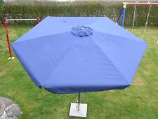 Marktschirm Sonnenschirm Kurbelschirm Schirm Landhausschirm Blau 4 m