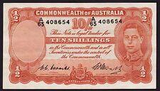 Ten Shillings Australian Banknote 1949 Coombs Watt R14 A/63